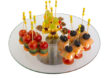 Assorted canapés on a skewer