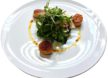 Warm scallops with mixed salad